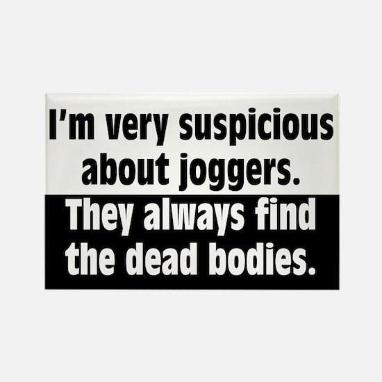 Jogger Suspicions Rectangle Magnet