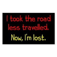 Road Less Travelled Decal