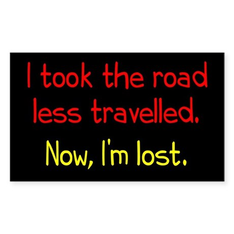 Road Less Travelled Sticker (Rectangle)