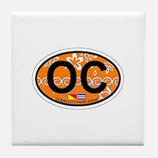 Ocean City NJ - Oval Design Tile Coaster