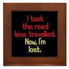 Road Less Travelled Framed Tile