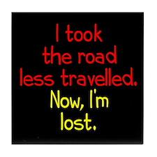 Road Less Travelled Tile Coaster