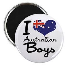 I Heart Australian Boys Magnet
