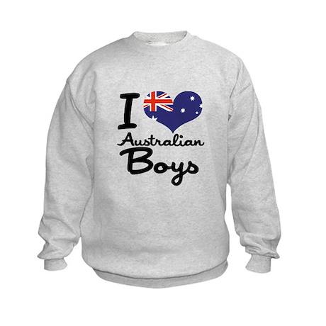I Heart Australian Boys Kids Sweatshirt