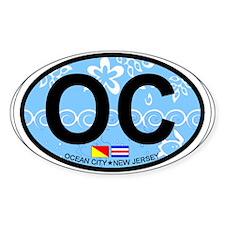 Ocean City NJ - Oval Design Decal