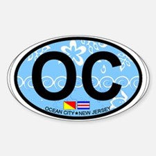 Ocean City NJ - Oval Design Decal