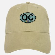 Ocean City NJ - Oval Design Baseball Baseball Cap