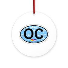Ocean City NJ - Oval Design Ornament (Round)