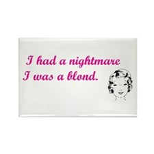 Blond Nightmare Rectangle Magnet