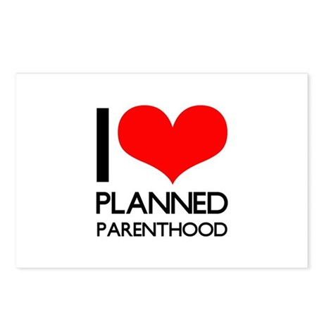 I Heart Planned Parenthood Postcards (Package of 8