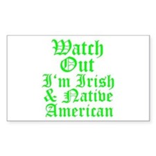 IRISH NATIVE AMERICAN Decal
