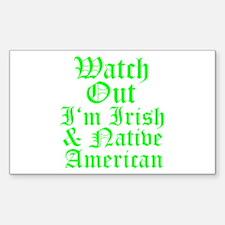 IRISH NATIVE AMERICAN Decal
