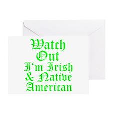 IRISH NATIVE AMERICAN Greeting Card