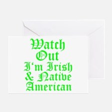 IRISH NATIVE AMERICAN Greeting Card