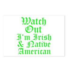 IRISH NATIVE AMERICAN Postcards (Package of 8)