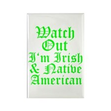 IRISH NATIVE AMERICAN Rectangle Magnet