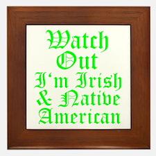 IRISH NATIVE AMERICAN Framed Tile