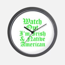 IRISH NATIVE AMERICAN Wall Clock