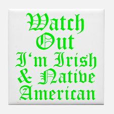 IRISH NATIVE AMERICAN Tile Coaster