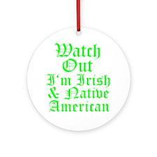 IRISH NATIVE AMERICAN Ornament (Round)