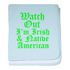 IRISH NATIVE AMERICAN baby blanket