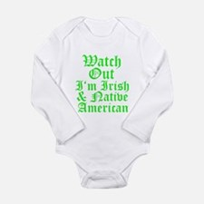 IRISH NATIVE AMERICAN Long Sleeve Infant Bodysuit