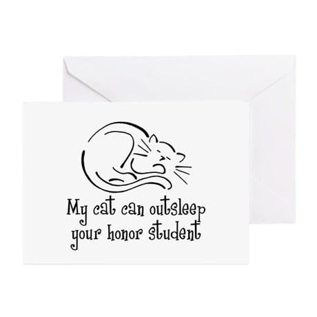 My Cat and your Honor Student Greeting Cards (Pack