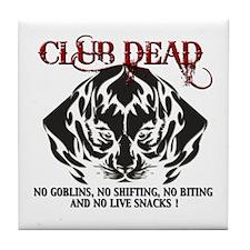 Club Dead Tile Coaster