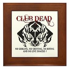 Club Dead Framed Tile