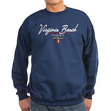 Virginia Beach Script Jumper Sweater