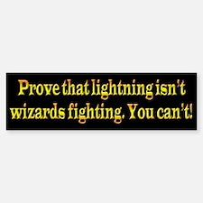 Wizards Fighting Bumper Bumper Sticker
