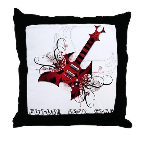 Future Rock Star Grunge Guitar Pillow