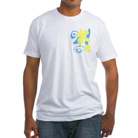 blue/yellow orchid Fitted T-Shirt