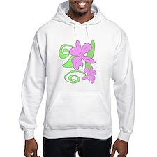 Pink/Green orchid Hoodie