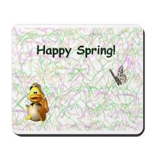 Happy Spring Duck Mousepad