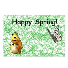 Happy Spring Duck Postcards (Package of 8)