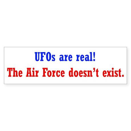 UFOs are Real Sticker (Bumper)