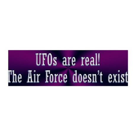 UFOs are Real 36x11 Wall Decal