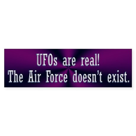 UFOs are Real Sticker (Bumper)