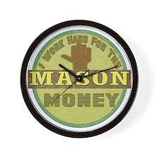 Stone Mason Wall Clock