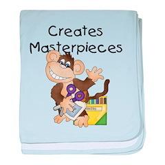 Monkey Creates Masterpieces baby blanket