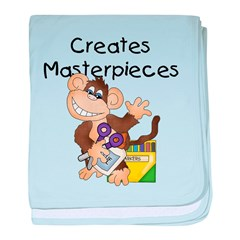 Monkey Creates Masterpieces baby blanket