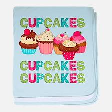 Cupcakes Cupcakes Cupcakes baby blanket