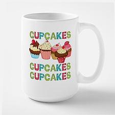 Cupcakes Cupcakes Cupcakes Large Mug