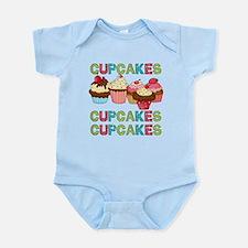Cupcakes Cupcakes Cupcakes Infant Bodysuit