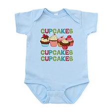 Cupcakes Cupcakes Cupcakes Onesie