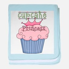 Cupcake Princess baby blanket