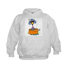 Flamingo in Pool Hoodie