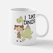 Girl I Like Dinos Mug