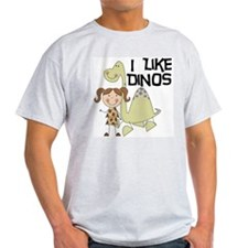 Girl I Like Dinos T-Shirt
